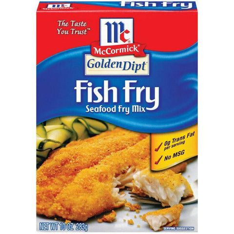 Golden Dipt Fish Fry Seafood Fry Mix 10 Oz (Pack of 8)