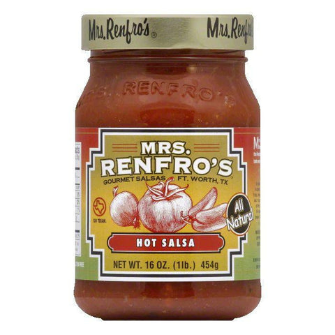 Mrs. Renfro's Sauce Picante Hot, 16 OZ (Pack of 6)