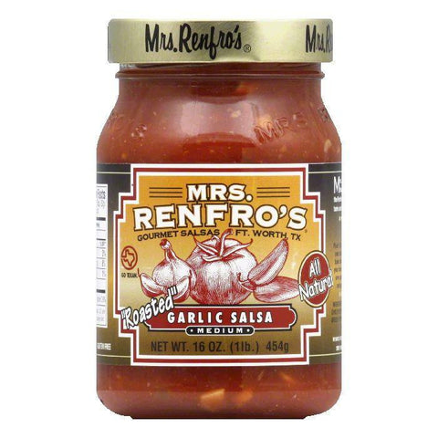 Mrs. Renfro's Salsa Garlic, 16 OZ (Pack of 6)