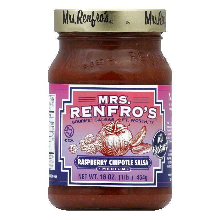 Mrs. Renfro's Salsa Chipotle Raspberry, 16 OZ (Pack of 6)