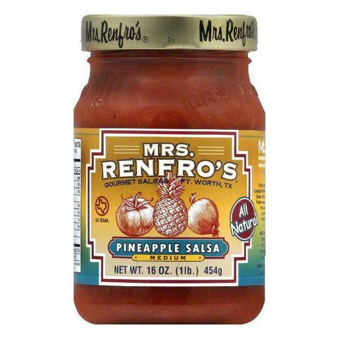 Mrs. Renfro's Pineapple Salsa, 16 OZ (Pack of 6)