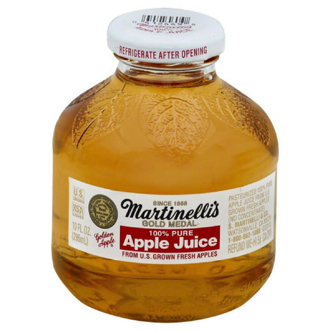 Martinellis Apple Pure 100% Juice, 10 Fo (Pack of 24)