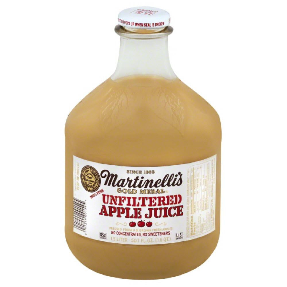 Martinellis Unfiltered Apple Pure 100% Juice, 1.5 Lt (Pack of 6)
