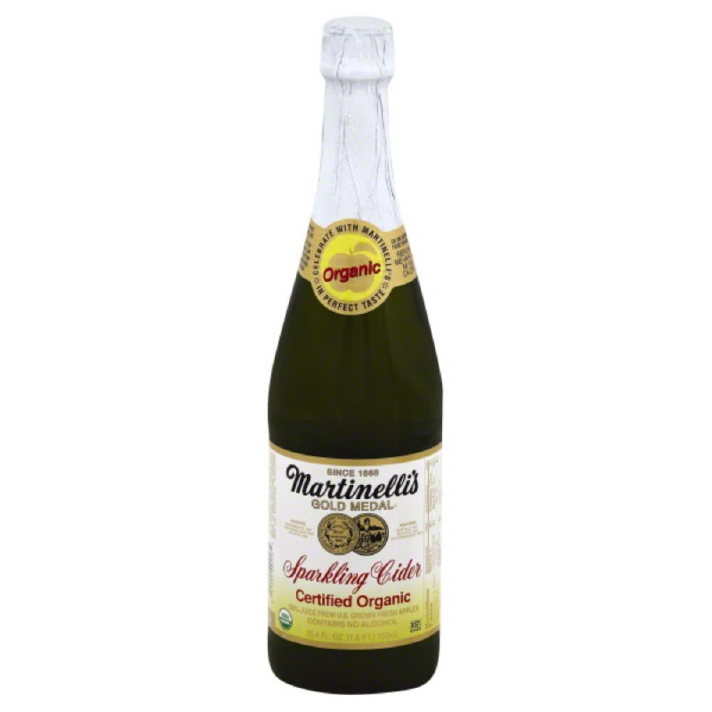 Martinellis Organic Sparkling Cider, 25.4 Fo (Pack of 12)
