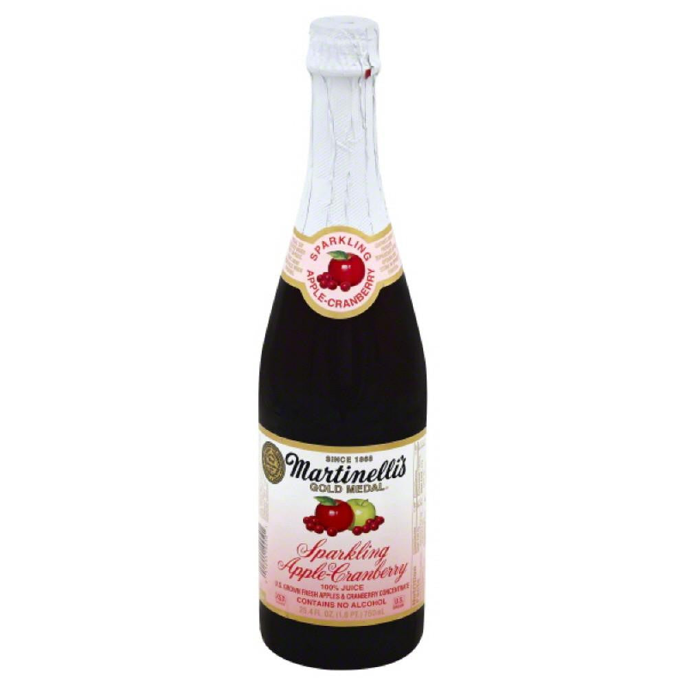 Martinellis Sparkling Apple-Cranberry 100% Juice, 25.4 Fo (Pack of 12)