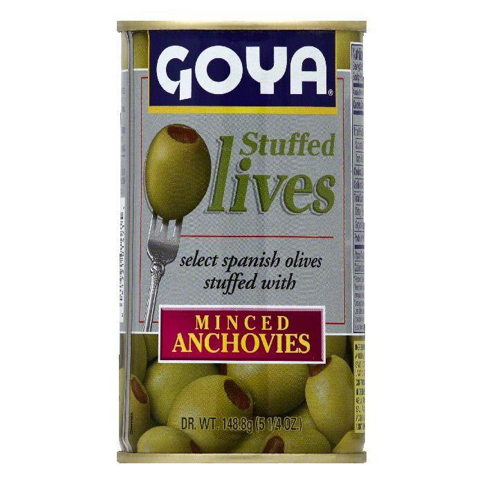 Goya Minced Anchovies Stuffed Olives, (Pack of 12)