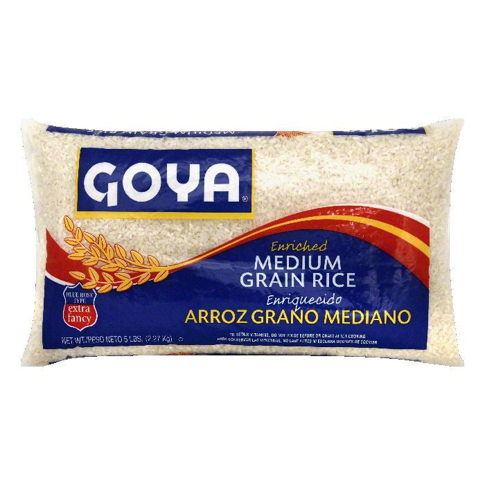Goya Medium Grain Enriched Rice, 5 lb (Pack of 12)