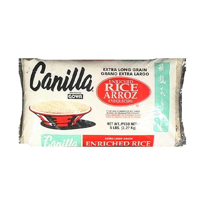 Canilla Extra Long Grain Enriched Rice, 5 lb (Pack of 12)