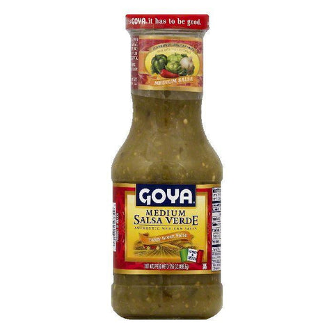 Goya Medium Salsa Verde, 17.6 OZ (Pack of 12)