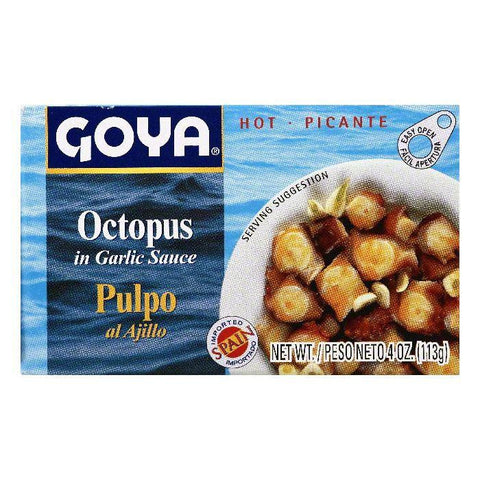 Goya Octopus in Garlic Sauce, 4 OZ (Pack of 25)