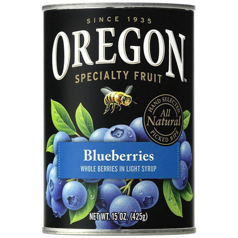 Oregon Fruit Products Blueberries in Light Syrup 15 Oz (Pack of 8)
