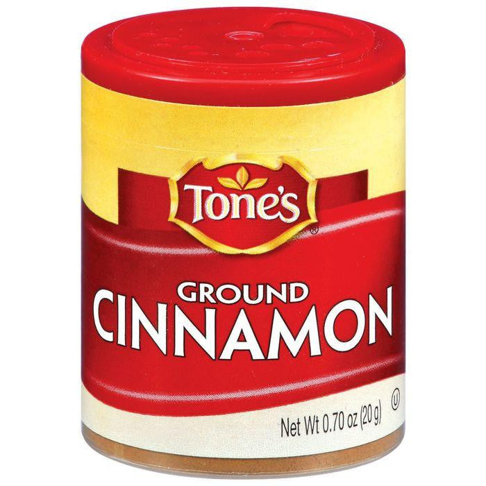 Tone's Ground Cinnamon .7 Oz Shaker (Pack of 6)