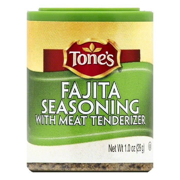 Tones Fajita Seasoning with Meat Tenderizer, 1 OZ (Pack of 6)