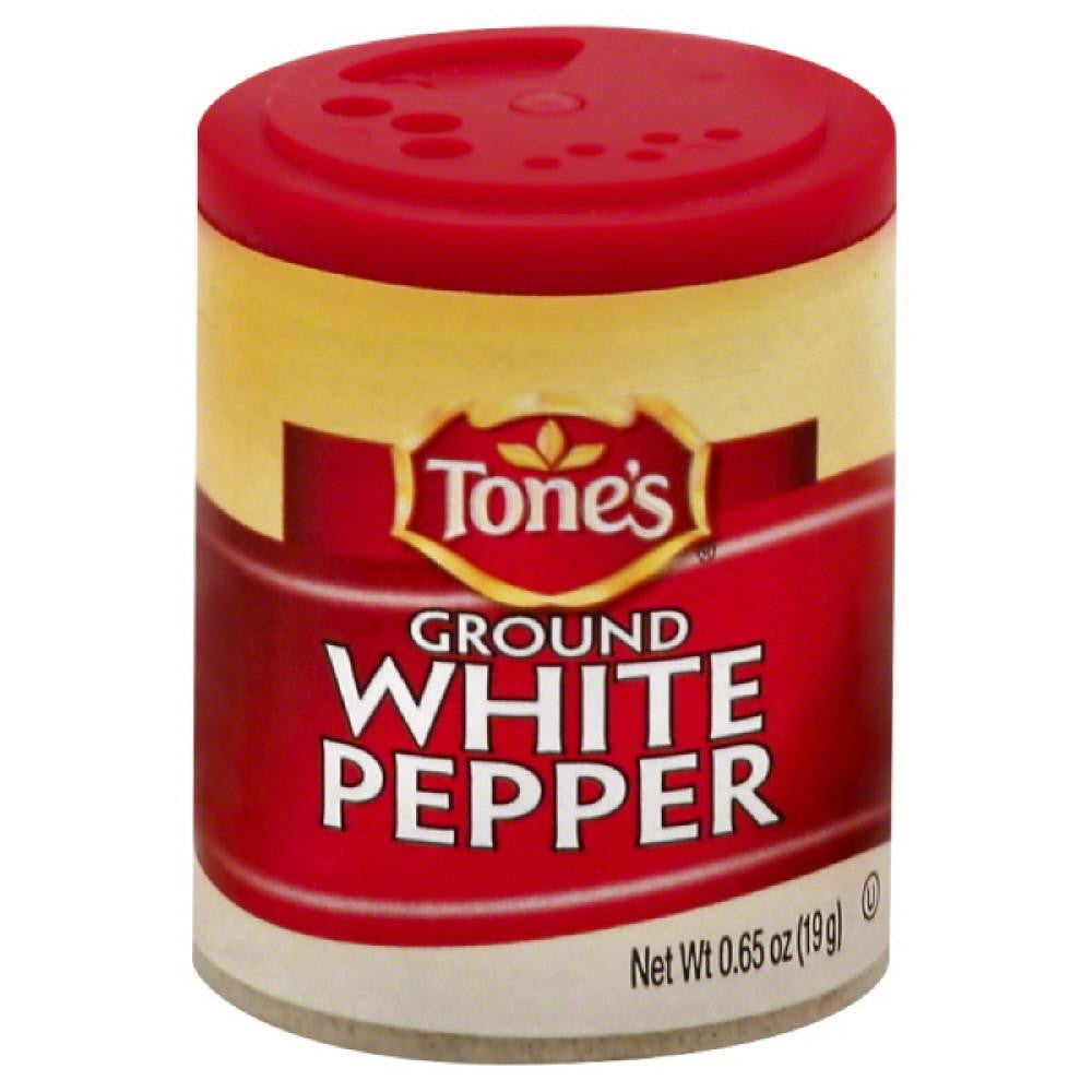 Tones Ground White Pepper, 0.65 Oz (Pack of 6)