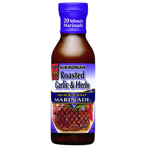 Kikkoman Quick & Easy Marinade Roasted Garlic & Herbs, 14 OZ (Pack of 12)