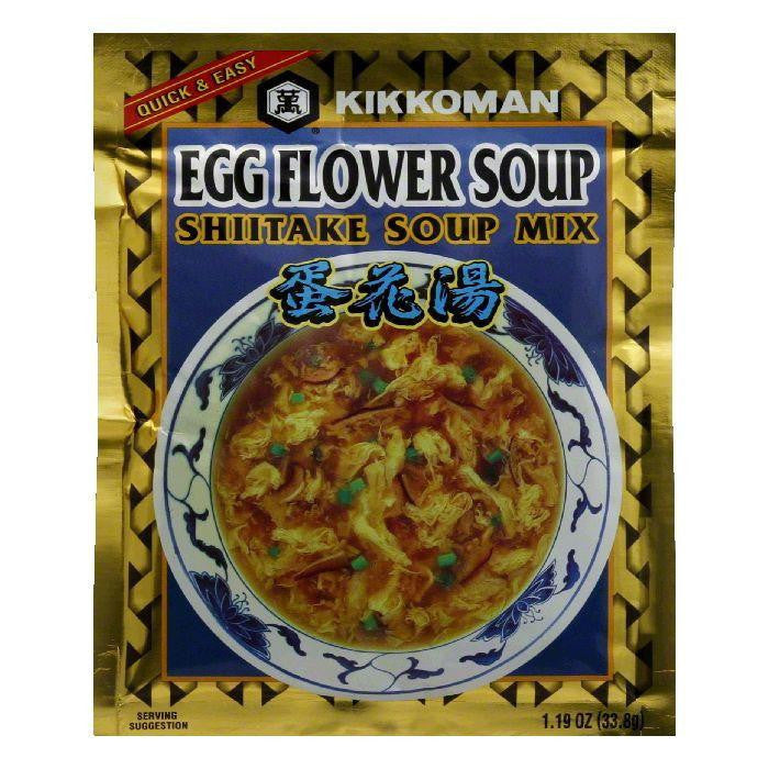 Kikkoman Soup Mix Egg Flower Shitake, 1.19 OZ (Pack of 12)