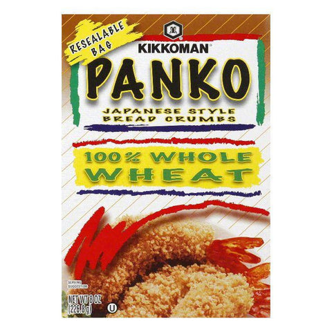 Kikkoman Wholewheat Panko Breadcrumbs, 8 OZ (Pack of 12)