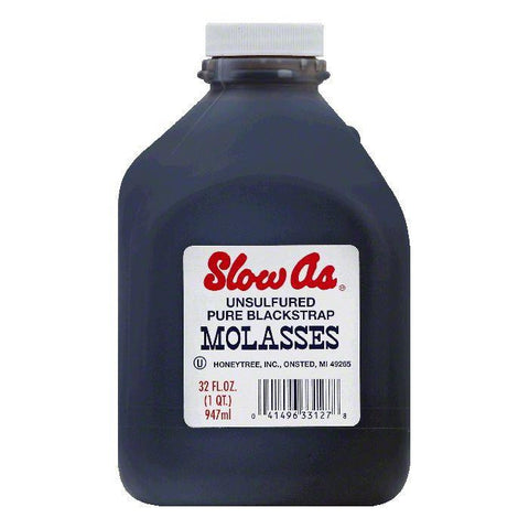 Slow As Unsulfured Pure Blackstrap Molasses, 32 OZ (Pack of 6)