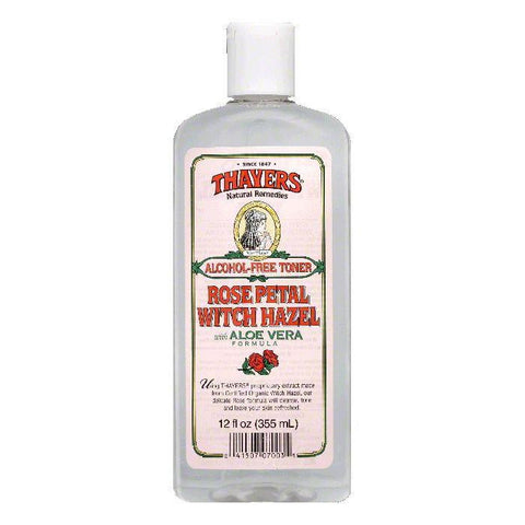 Thayers Witch Hazel Rose Petal Alcohol-Free Toner, 12 FO (Pack of 3)