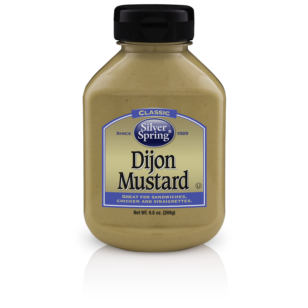 Silver Springs Mustard Dijon, 9.5 OZ (Pack of 9)