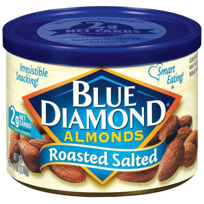 Blue Diamond Roasted Salted Almonds 6 Oz (Pack of 12)