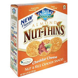 Blue Diamond Nut Thins Almond Cheddar Cheese Nut & Rice Cracker Snacks 4.25 Oz (Pack of 12)
