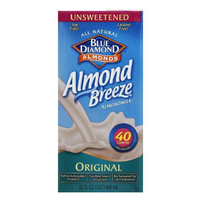 Blue Diamond Breeze Unsweetened Original, 32 FO (Pack of 12)
