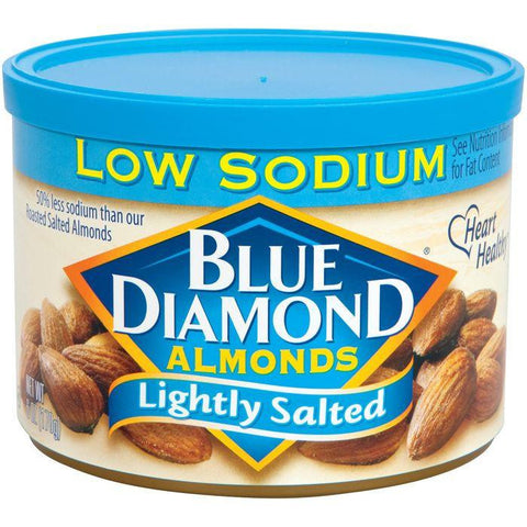Blue Diamond Almonds Lightly Salted Low Sodium Almonds 6 Oz (Pack of 12)