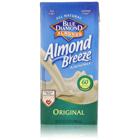 Blue Diamond Almonds Almond Breeze Original Almond Milk Non Dairy Milk Alternative 32 fl. Oz (Pack of 12)
