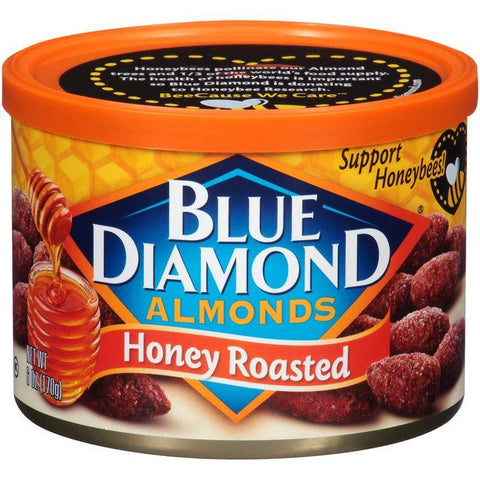 Blue Diamond Honey Roasted Almonds 6 Oz (Pack of 12)