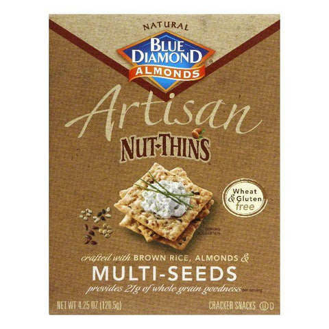 Blue Diamond Gluten Free Multi Seed Nut Thin Crackers, 4.25 OZ (Pack of 12)