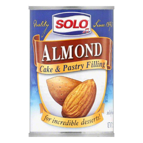 Solo Almond Filling, 12.5 OZ (Pack of 6)
