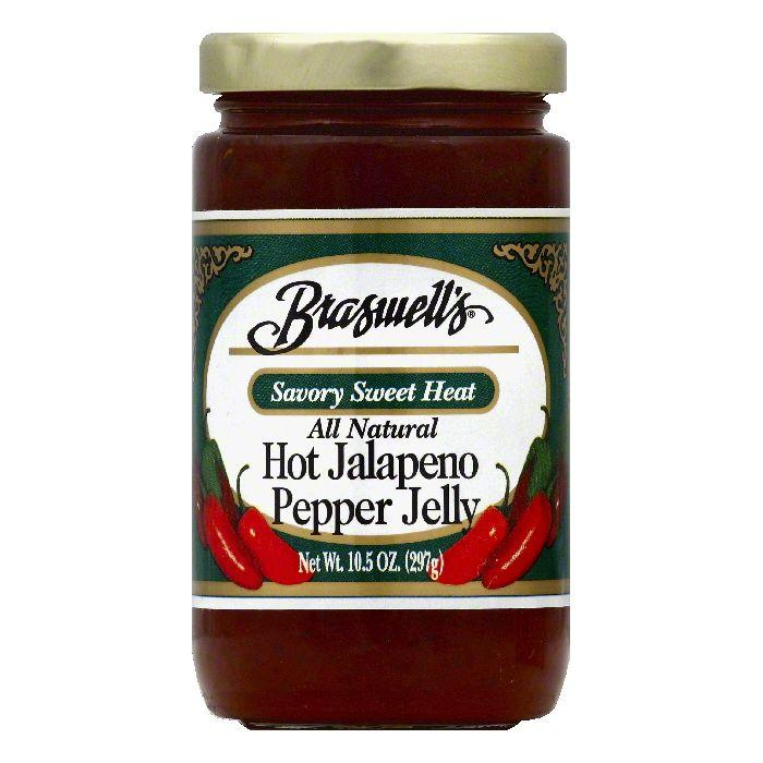 Braswells Hot Jalapeno Pepper Jelly, 10.5 OZ (Pack of 6)