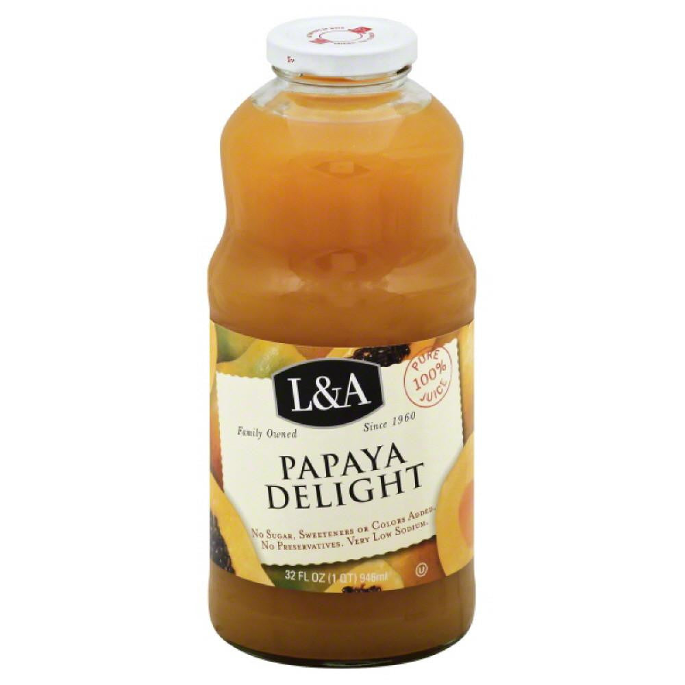 L&A Papaya Delight 100% Juice, 32 Fo (Pack of 6)