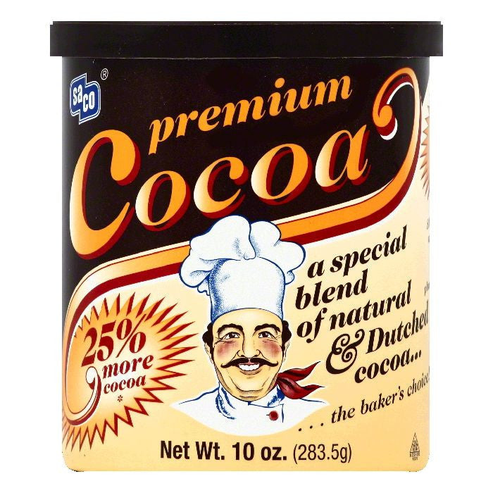 Saco Premium Cocoa, 10 OZ (Pack of 12)