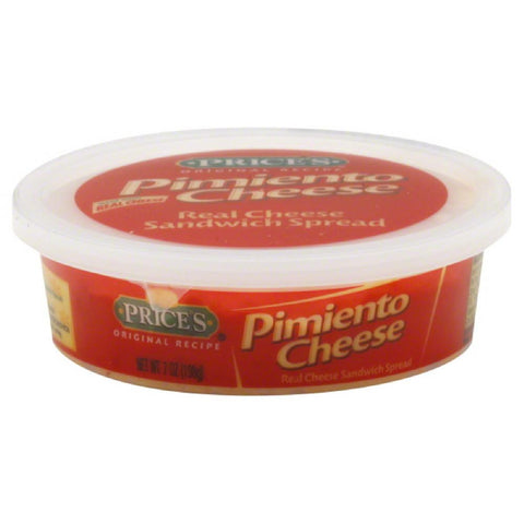 Prices Pimiento Real Cheese Sandwich Spread, 7 Oz (Pack of 12)