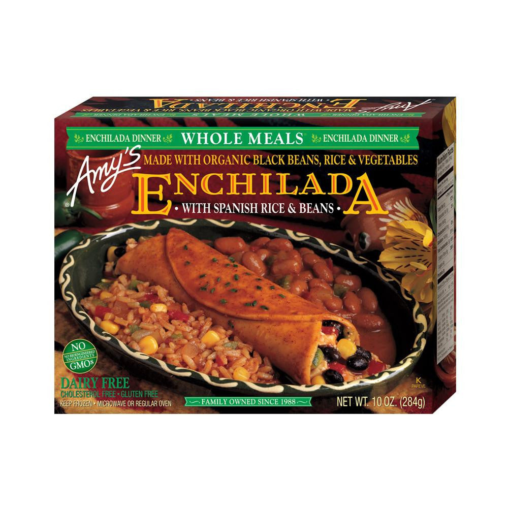 Amy's Kitchen Black Bean Enchilada Whole Meal, 10 Oz (Pack of 12)