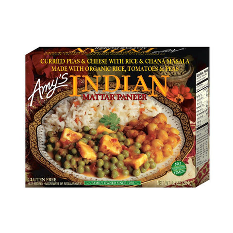 Amy's Kitchen Indian Mattar Paneer, 10 Oz (Pack of 12)