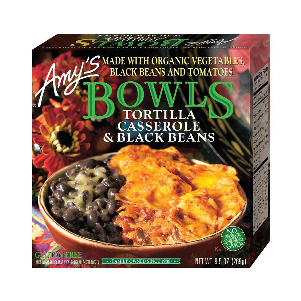 Amy's Kitchen Tortilla Casserole & Black Beans Bowl, 9.5 Oz (Pack of 12)