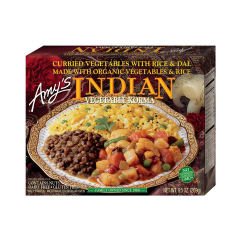 Amy's Kitchen Indian Vegetable Korma, 9.5 Oz (Pack of 12)