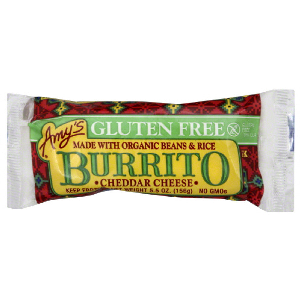 Amys Cheddar Cheese Burrito, 5.5 Oz (Pack of 12)