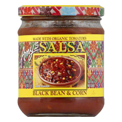 Amys Og Blk Bean N Corn Salsa 17.5z, 14.7 OZ (Pack of 6)
