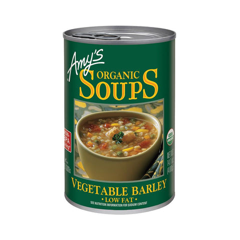 Amy's Kitchen Organic Vegetable Barley Soup, 14.1 Oz (Pack of 12)