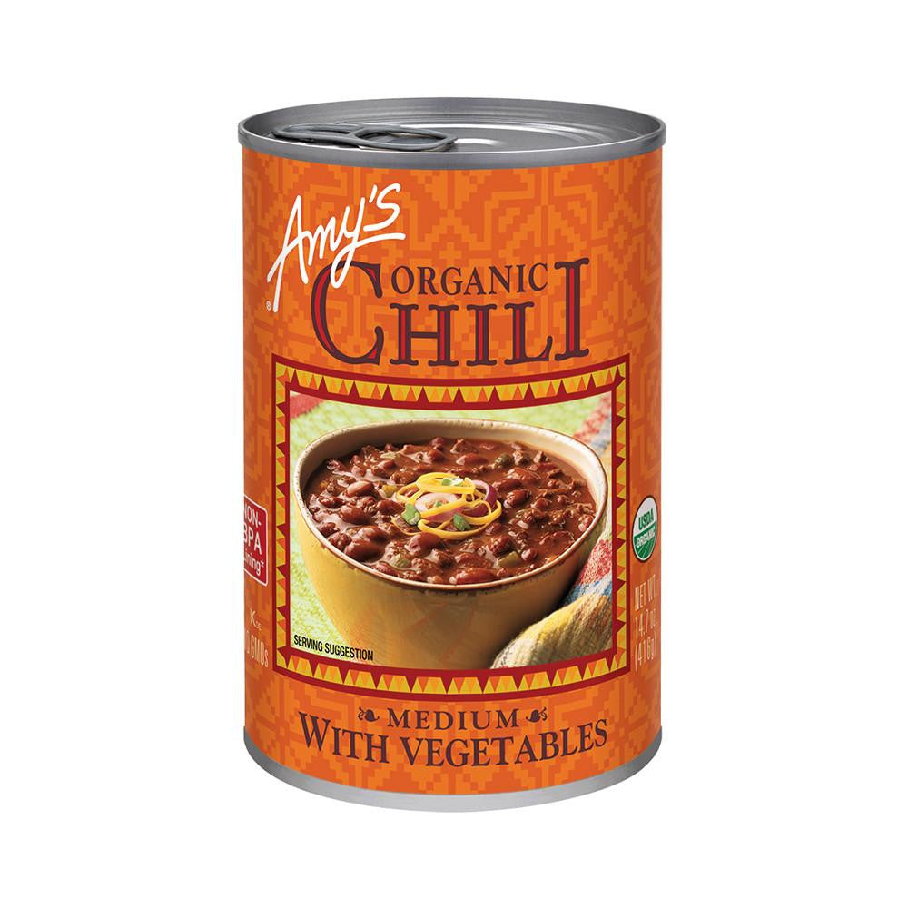 Amy's Kitchen Organic Medium Chili with Vegetables, 14.7 Oz (Pack of 12)