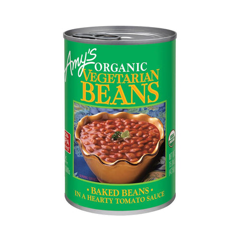 Amy's Kitchen Organic Vegetarian Baked Beans, 15 Oz (Pack of 12)