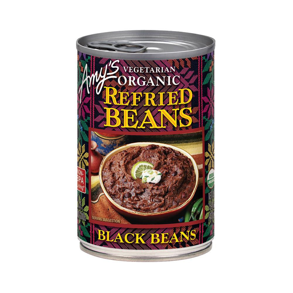 Amy's Kitchen Organic Refried Black Beans, 15.4 Oz (Pack of 12)