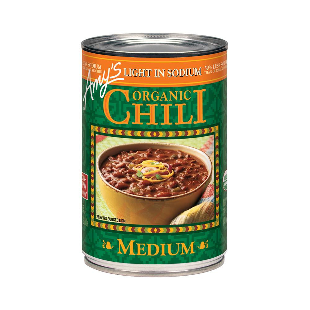 Amy's Kitchen Organic Light in Sodium - Medium Chili, 14.7 Oz (Pack of 12)