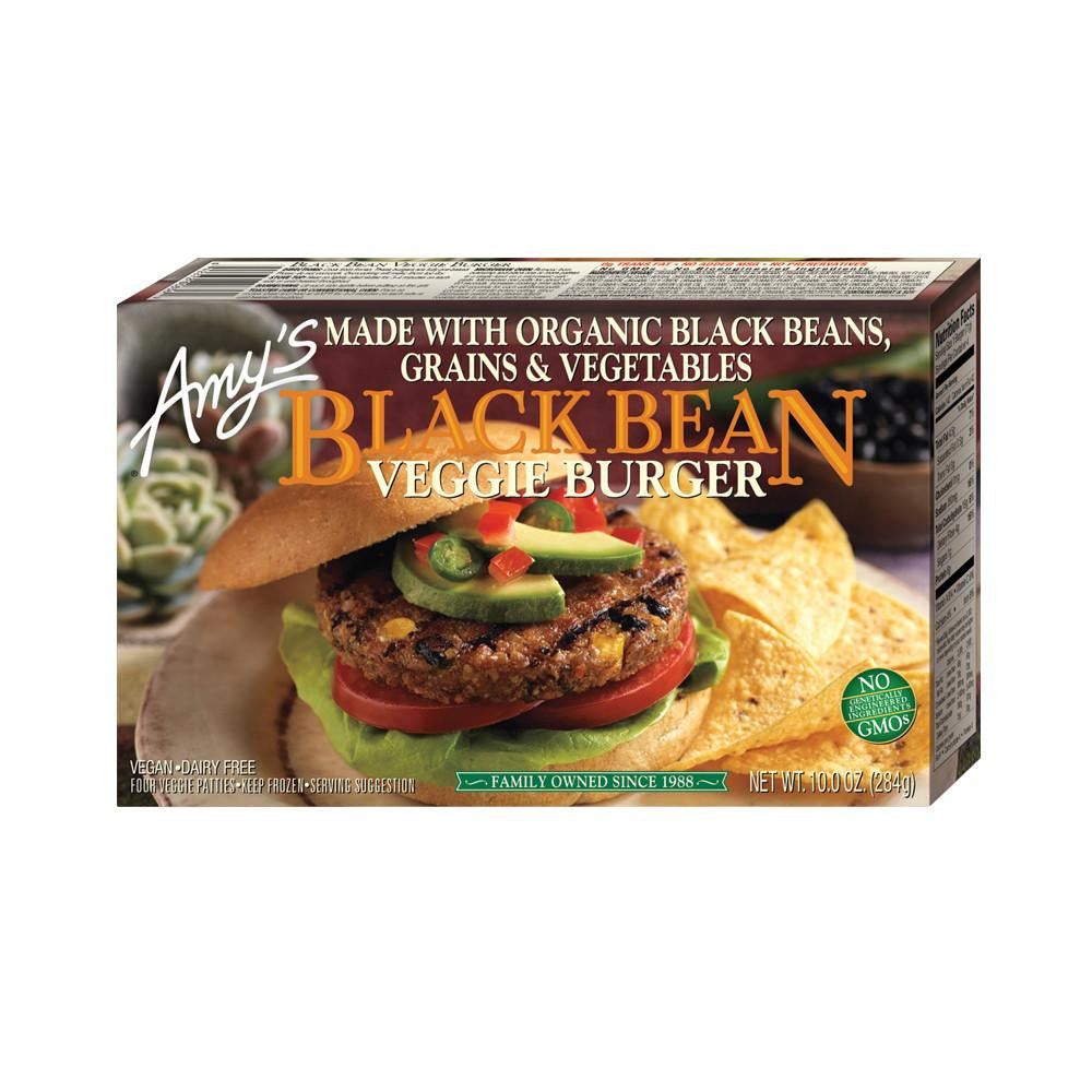 Amy's Kitchen Black Bean Veggie Burger, 10 Oz (Pack of 12)