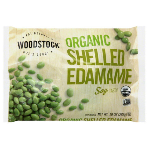Woodstock Shelled Organic Edamame, 10 Oz (Pack of 12)