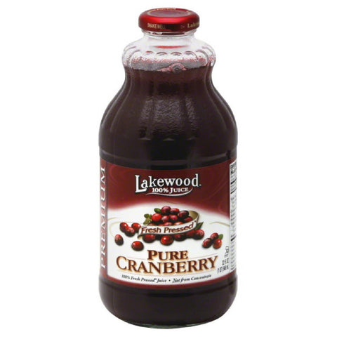 Lakewood Pure Cranberry Premium 100% Juice, 32 Fo (Pack of 12)
